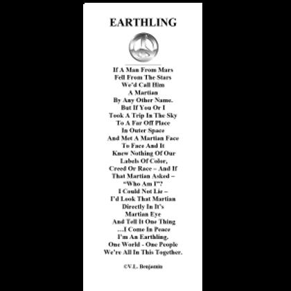 Earthling Bookmark