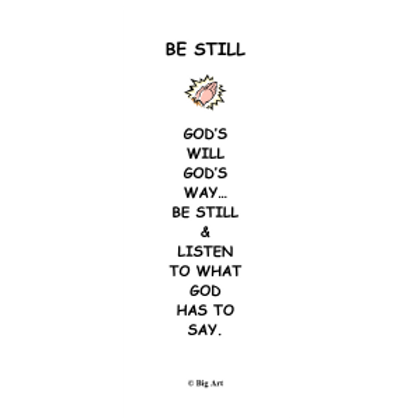 Be Still Bookmark