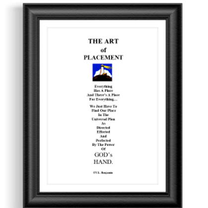The Art of Placement Poster