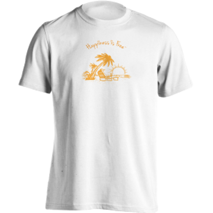 Happiness Is Free Sunset t-shirt