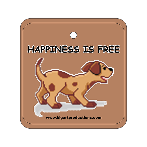 Happiness is Free Dog Air Freshener