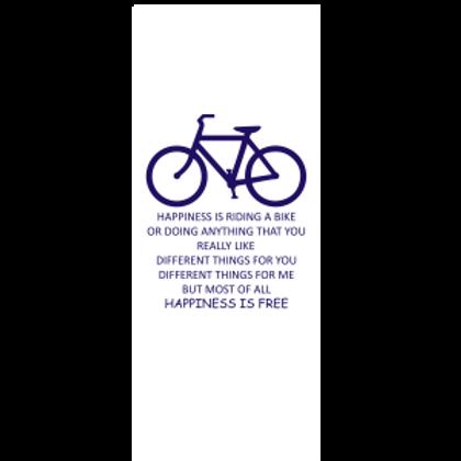 Happiness is Free Bike Bookmark