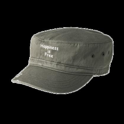 Khaki Happiness is Free Military Hat