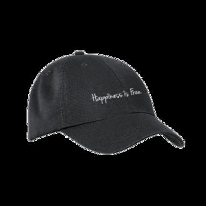 Black Happiness is Free Cursive Twill Cap