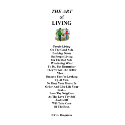 The Art of Living Bookmark