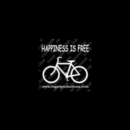 Happiness Is Free Bike Bumper Sticker