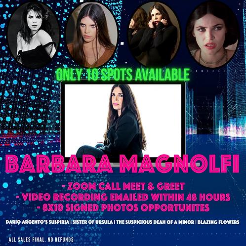 Zoom 5-Minute Meet & Greet with Barbara Magnolfi