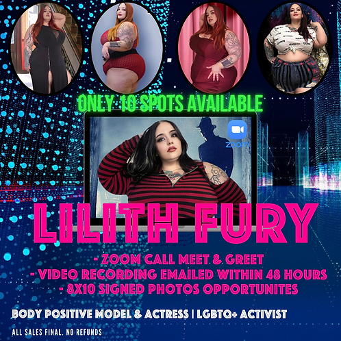 Zoom 5-Minute Meet & Greet with Lilith Fury