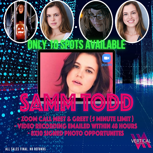 Zoom 5-Minute Meet & Greet with Samm Todd