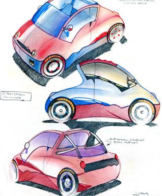 Postmodernist City Car Concepts