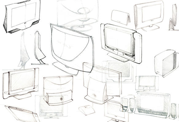 Sony LCD + Subwoofer Ideation, 2007