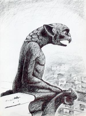 Gargoyle in Paris, 1998