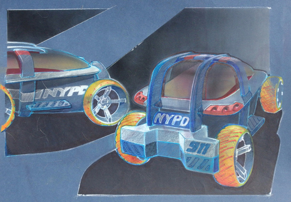 Exoskeleton R/C Car Concepts, 1997