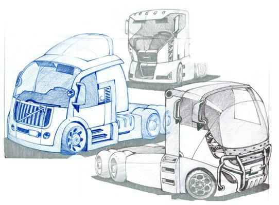 Cabover Semi-Truck Concepts, 2000