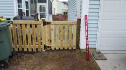 Gate on Tanner Pl. Fence