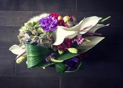 My work_ Le Bouquet moderne de la combination de couleurs