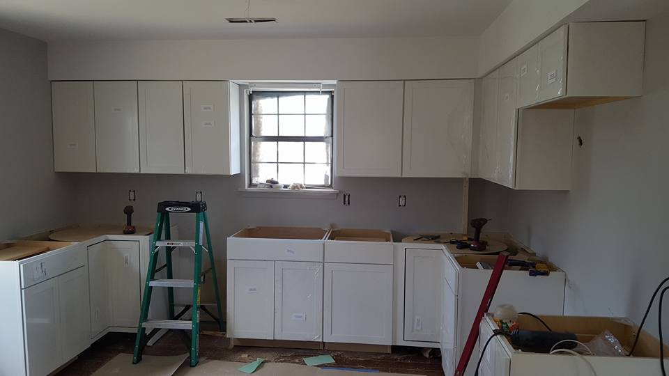 New kitchen cabinets.