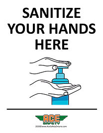 COVID-19 - SANITIZE YOUR HANDS HERE - AC