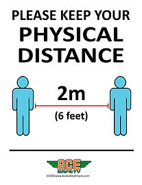 COVID-19 - PHYSICAL DISTANCE - ACE SAFET