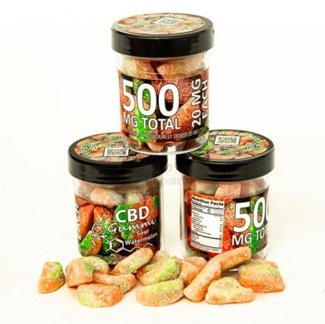 Sour Watermelon Gummi (500 MG) - OUT OF STOCK