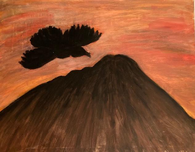 Bird Over Mountain