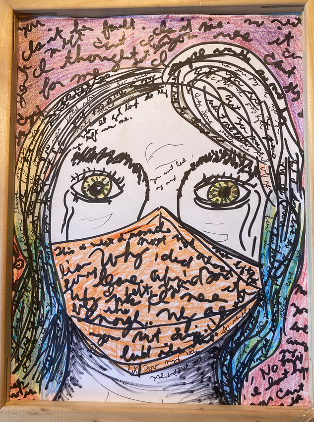 COVID Self Portrait in Quarantine
