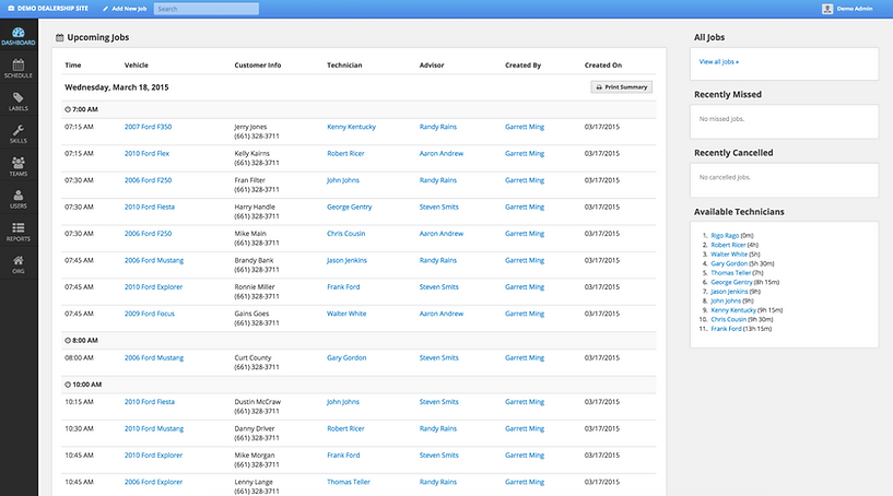 ShopLoader Daily Arriving Jobs Page