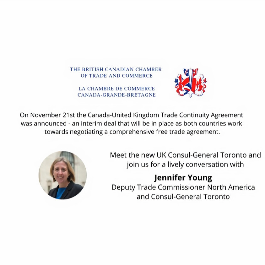 Meet the new UK Consul-General and join us for a lively conversation
