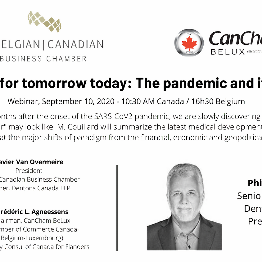 Belgian Chamber Webinar – Preparing for tomorrow today: The pandemic and its aftermath