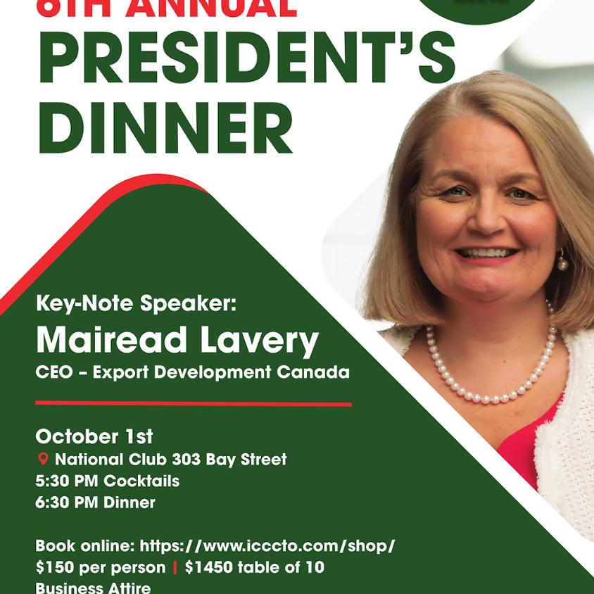 President/CEO Export Development Canada Keynote Speaker Oct 1st President's Dinner