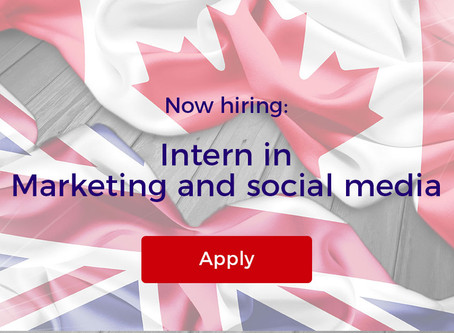 Now hiring: Intern in Marketing and social media