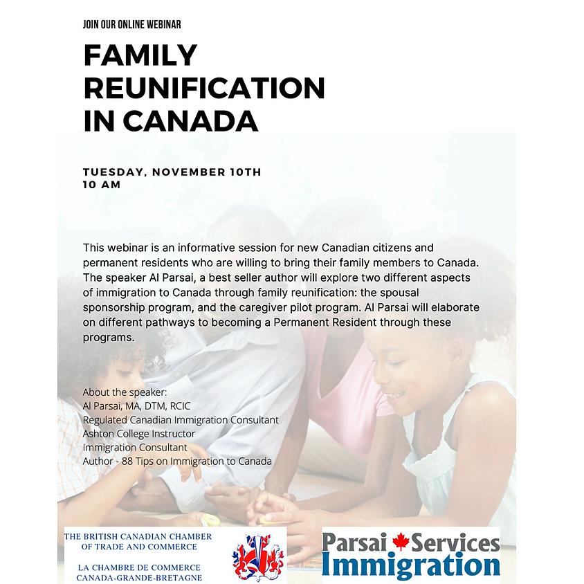 Webinar: Family Reunification in Canada