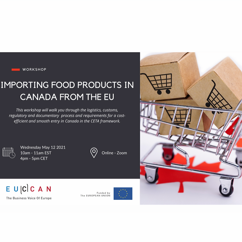 Importing Food Products in Canada from the EU