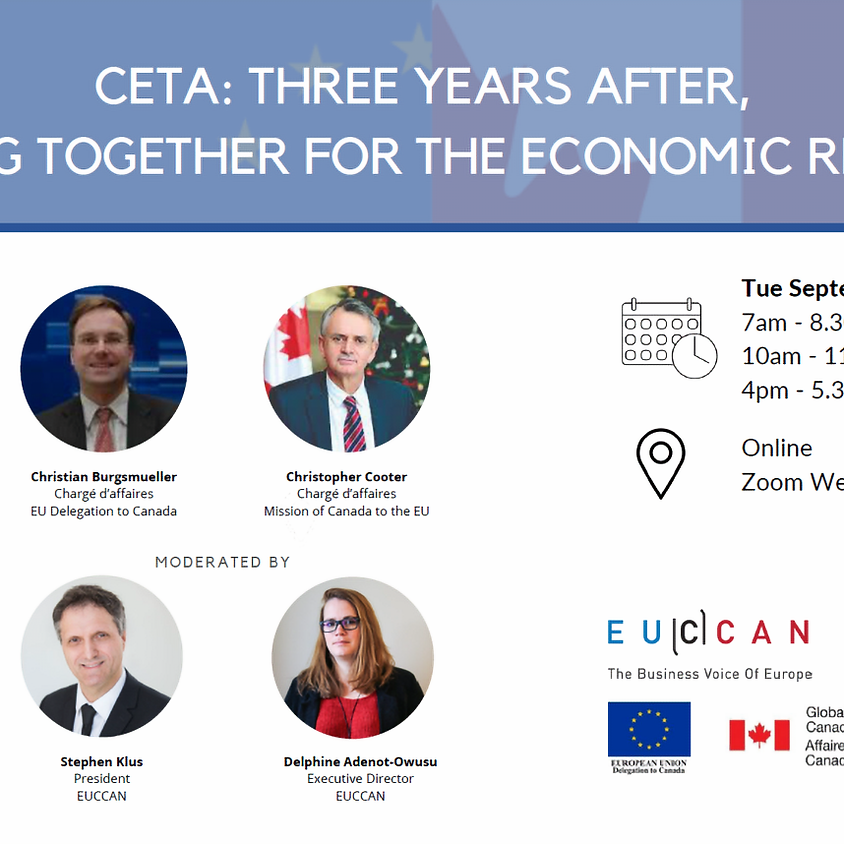 Panel discussion: CETA – Three years after, working together for economic recovery