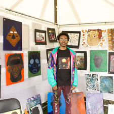 "Formerly part of Mint, Damon ""First Born"" Chamblis now has a tent in the main art fair."