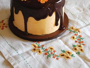 Chocolate Cake with Seville Orange Curd Buttercream and Chocolate Orange Glaze