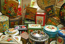 vintage tins to hire