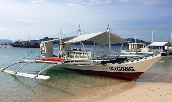 Dugong boat bangka from Dugong Dive Center, Palawan, Philippines