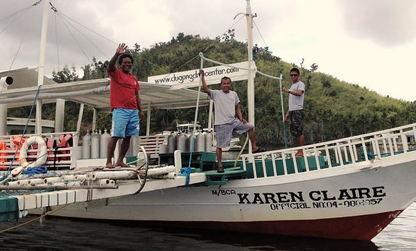 Karen Claire boat bangka from Dugong Dive Center , Palawan, Philippines