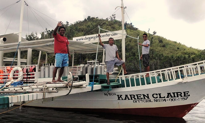 Karen Claire boat bangka from Dugong Dive Center , Palawan, Philippines