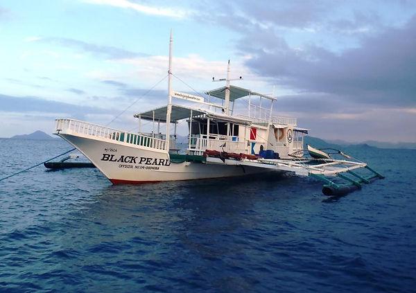 Black Pearl boat bangka from Dugong Dive Center, Palawan, Philipines