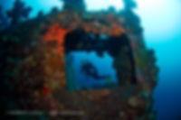 Kyokuzan Maru Shipwreck AOWC adventure diver, Palawan, Philippines