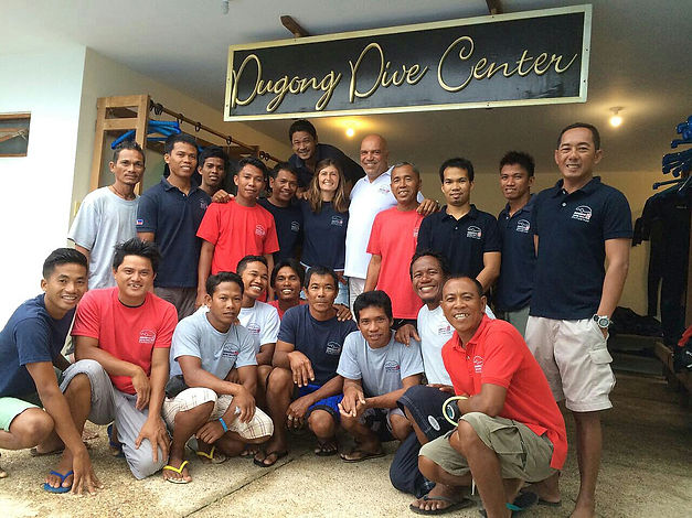 Dugong dive center team and crew, Busuanga, Palawan, Philippines