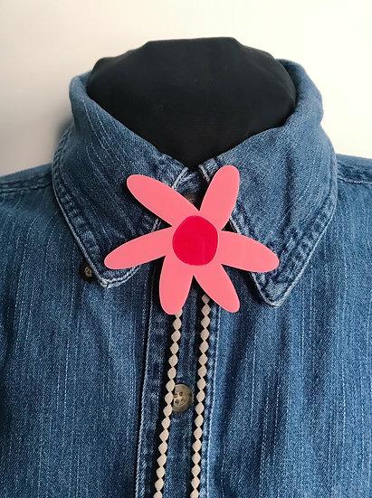 Pink Daisy Bolo Tie