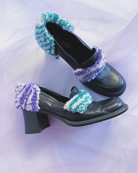 Teal/Purple Stripe Loafer - Size 8
