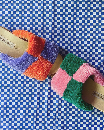 Tufted Sandals- Size 6.5