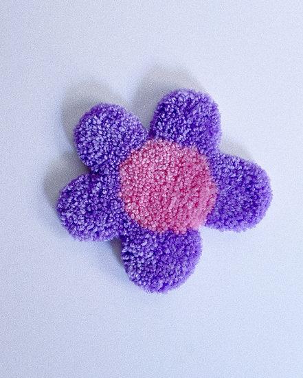 Flower Mug Rug- PURPLE/PINK