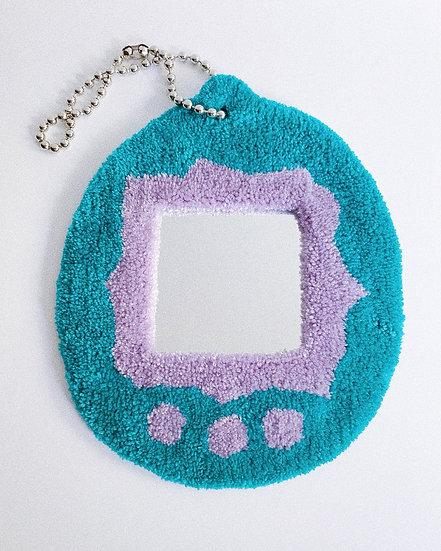 Mini Tamagotchi Mirror- TEAL