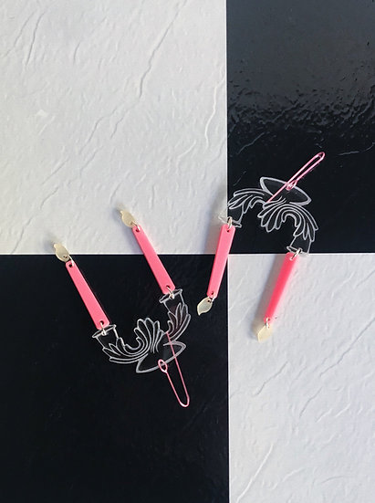80s Deco Candleholder Earrings