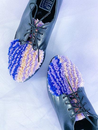 Blue/Purple/Coral Tufted Shoes- size 6.5